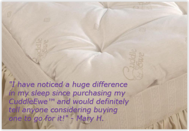 100% Wool Mattress Toppers (Cuddle Ewe UnderQuilts)